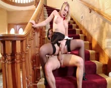 Young Harlots School Trip - Blonde Schoolgirl Fucked Hard